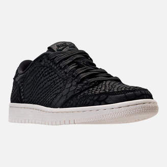 Nike Women's Air Jordan Retro 1 Low No Swoosh Energy Casual Shoes