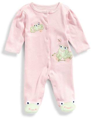 Little Me Infant Girls Sweet Frogs Footie and Hat Set