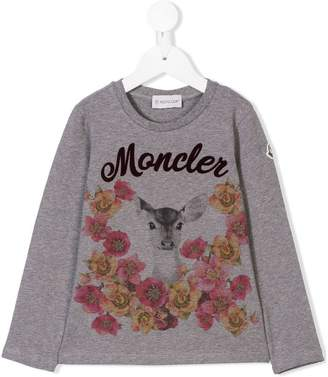 Moncler printed long-sleeved T-shirt