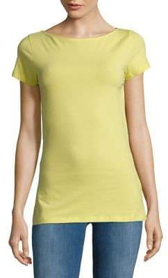 Lord & Taylor Plus Cotton-Blend Tee