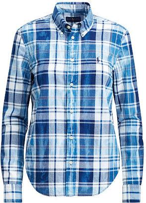 Polo Ralph Lauren Boy Fit Cotton Madras Shirt $98.50 thestylecure.com
