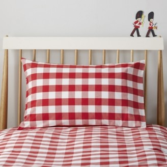 The White Company Postbox Classic Pillowcase , Post Box Red, Cot Bed