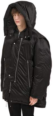 Oamc Oversized Hooded Nylon Down Jacket