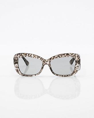 Le Château Leopard Print Oval Sunglasses