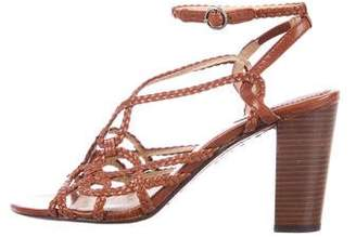 Frye Leather Braided Sandals