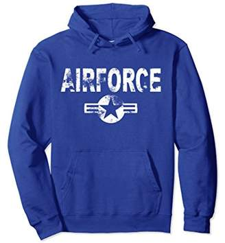 Airforce Hoodie Cool Casual US Military Distressed Top Gift