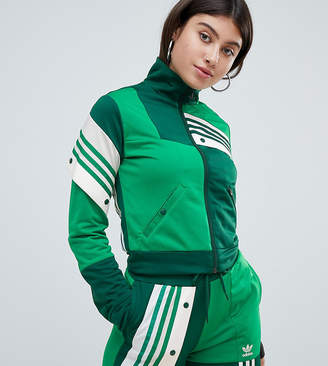 adidas X Danielle Cathari Deconstructed Track Top In Green
