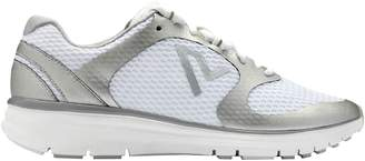 Vionic Womens Elation 1 White Silver Textile Trainers 7 US