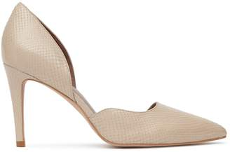 Reiss Lawrence Snake-Effect Court Shoes