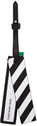 Off-White Off White Black Diag Luggage Tag