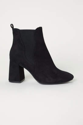H&M Ankle Boots with Side Panels - Black