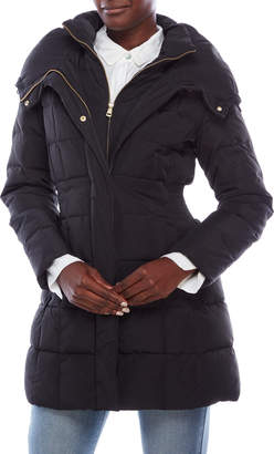 Cole Haan Signature Hooded Bib Front Down Coat