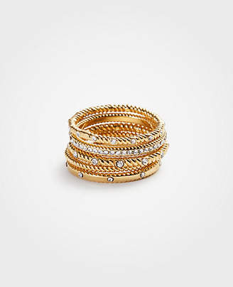 Ann Taylor Simple Stacked Ring Set