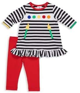 Florence Eiseman Baby Girl's Two-Piece Paint Brush Tee and Leggings Set