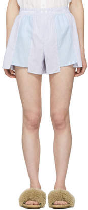 Alexander Wang Multicolor Striped Shirting Boxer Shorts
