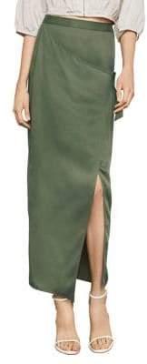 BCBGMAXAZRIA Long Wrap Skirt