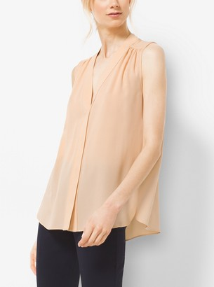 Michael Kors Silk-Georgette Blouse