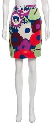 Chanel Printed Silk Skirt