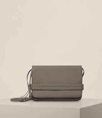 AllSaints Club Leather Medium Clutch Bag