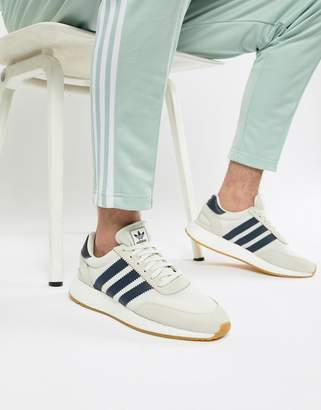 adidas I-5923 Boost Suede Trainers In White B37947