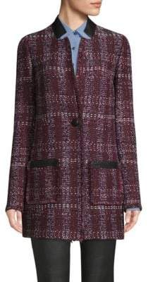 St. John Tweed One-Button Blazer