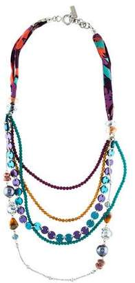 Etro Jasper, Resin, & Fabric Multistrand Necklace