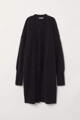 H&M Long Wool-blend Cardigan - Black
