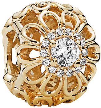 Pandora Floral Brilliance 14K Cz Charm