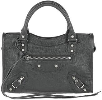 Balenciaga Mini Classic City Shoulder Bag Leather Grey