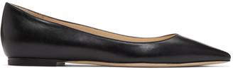Jimmy Choo Black Leather Romy Flats