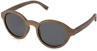 Earth Wood Maho Polarized Round Sunglasses