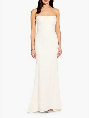 Adrianna Papell Strapless Gown, Ivory