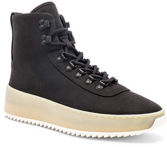 Fear Of God Nubuck Hiking Sneakers in Black & Gum | FWRD