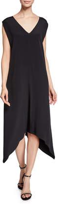Zero Maria Cornejo V-Neck Foulard Silk Crepe Handkerchief Dress