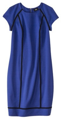 Mossimo Women's Capsleeve Ponte Dress w/ Piping - Assorted Colors