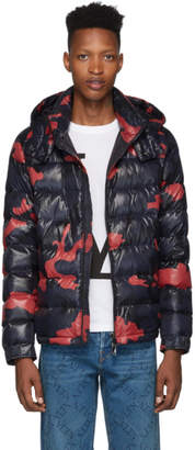 Valentino Blue Down Camouflage Jacket