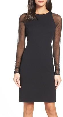 Women's Vera Wang Mesh Body-Con Dress $258 thestylecure.com