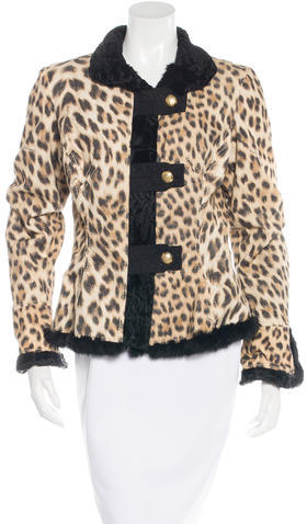 Roberto CavalliRoberto Cavalli Fur-Trimmed Printed Jacket