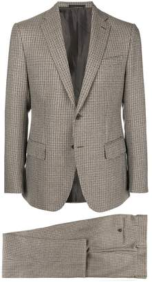 Caruso checked classic suit