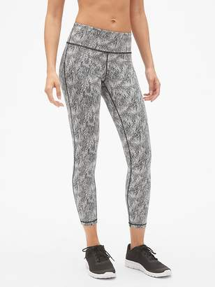 Gap GFast Mid Rise Textured Jacquard 7/8 Leggings