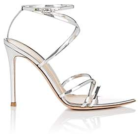 Gianvito Rossi Women's Kim Specchio Leather Sandals-Silver