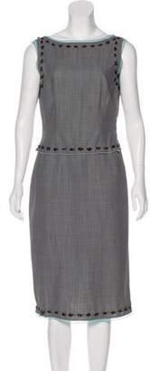 Genny Wool Midi Dress