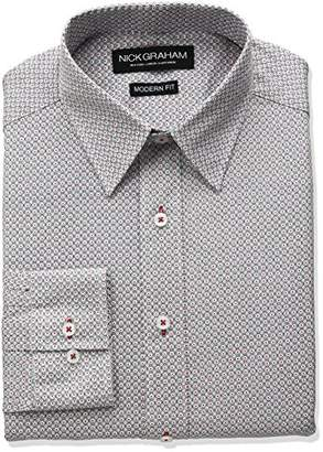 Nick Graham Men's Dot Cotton Dress Shirt
