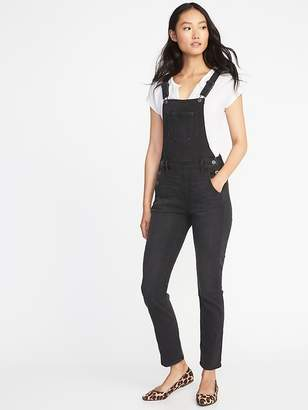 Old Navy Straight Black-Wash Denim Overalls for Women