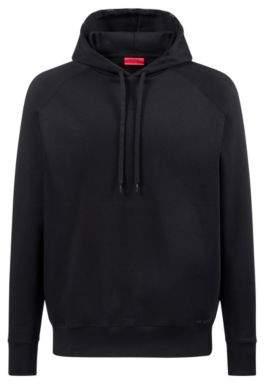 HUGO Boss Oversized-fit sweatshirt in interlock cotton logo hood M Black
