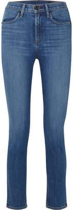 Rag & Bone Lily Aldridge Cigarette High-rise Straight-leg Jeans - Mid denim