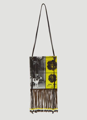 J.W.Anderson X Gilbert & George Neck Pouch in Black