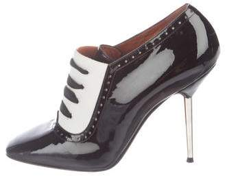 Lanvin Patent Leather Oxford Booties