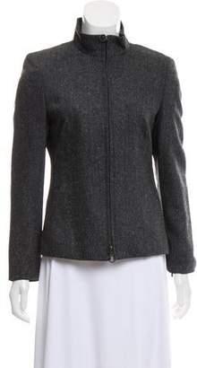 Akris Punto Wool-Blend Zip-Up Jacket