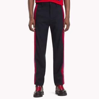 Tommy Hilfiger Contrast Stripe Wool Trousers